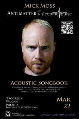 Mick Moss (Antimatter) - Acoustic Songbook - Bilety na koncert