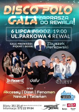 Disco Polo Gala zaprasza do Rewala - Bilety na koncert