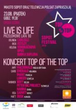Sopot TOP of the TOP Festival 2013 - Bilety na koncert