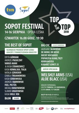 TOP of the TOP Sopot Festival - dzień 3 - Bilety na koncert