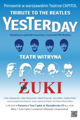 TRIBUTE TO THE BEATLES – YESTERDAY - Bilety na koncert