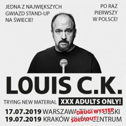 Louis C.K. - Trying new material. XXX Adults only! - Bilety na stand-up