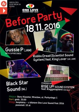 Before Party One Love Sound Fest 2016 - Bilety na koncert